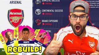 ARSENAL REBUILD! Mbappe $110,000,000 SIGNING!! - FIFA 18 Career Mode