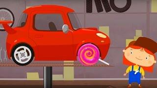 Мультфильм про машинки - Доктор Машинкова  - Спортивный автомобиль и знак Ограничьте скорость