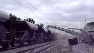 g m damsteegt tu515r truck unloader loading rail wagons
