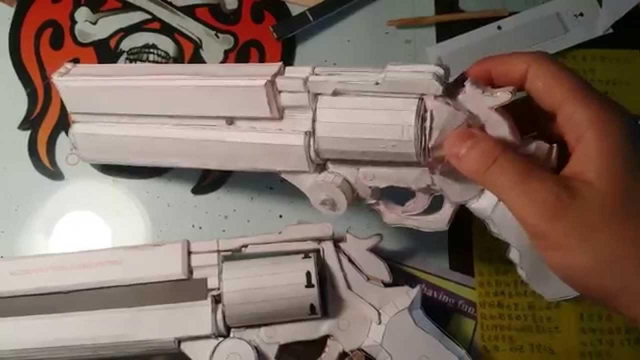 Papercraft Vash's Gun (papercraft gun)