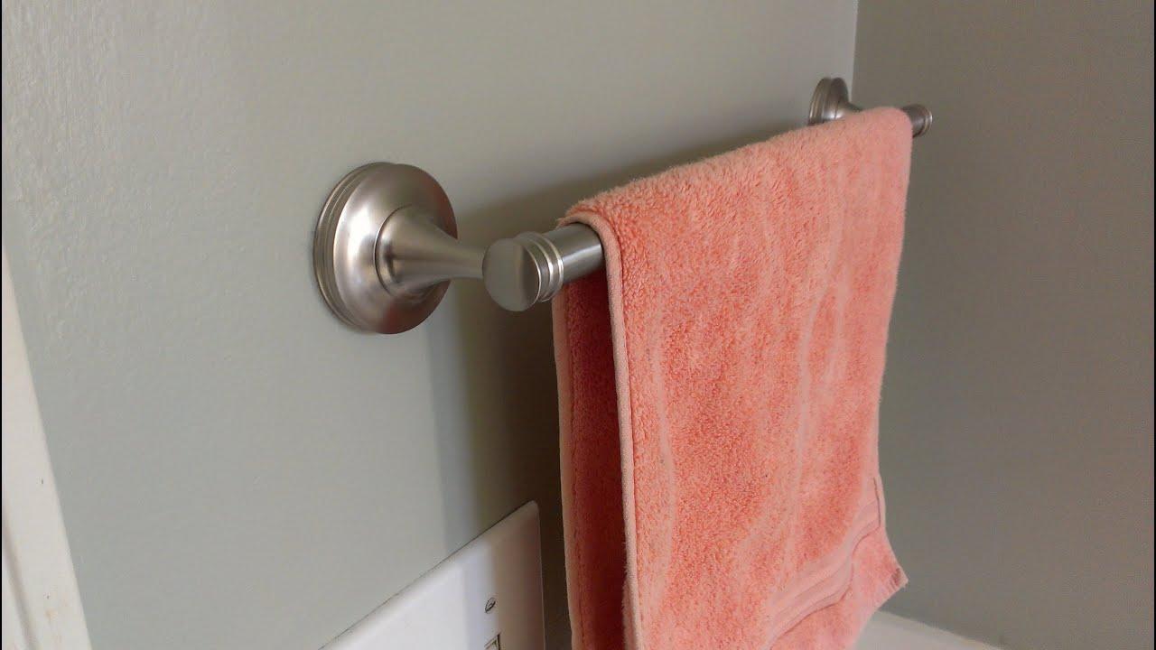 Como instalar un toallero en el ba o youtube - Toallero para bano ...