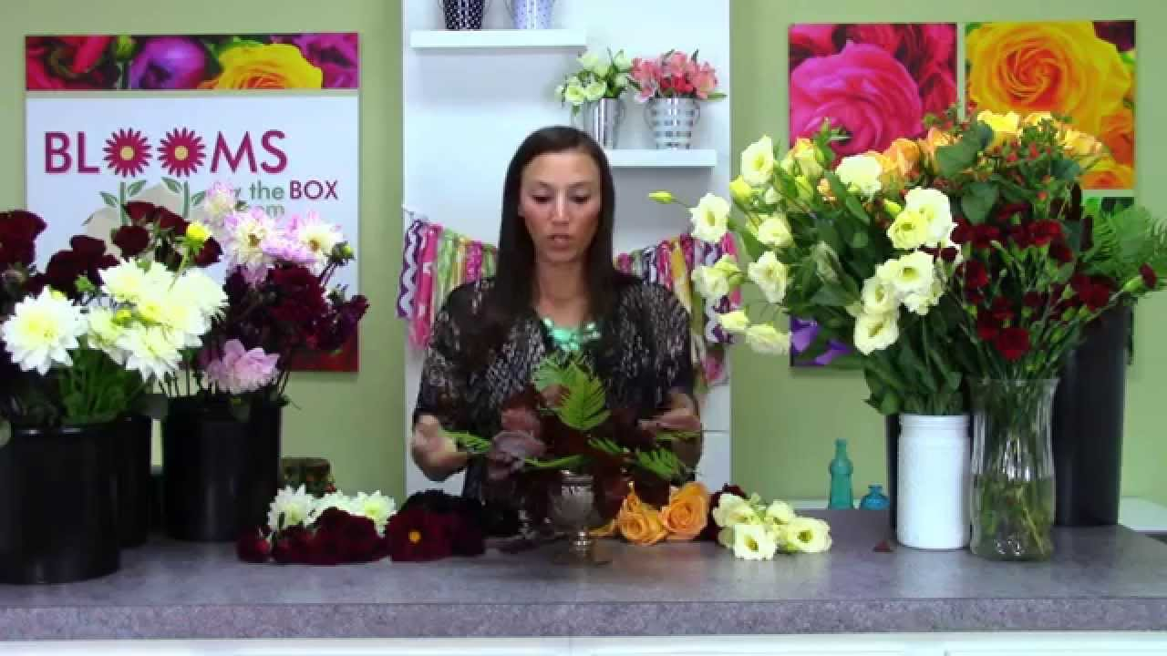 Making Lush Dahlia Arrangements In A Pedestal Vase Youtube