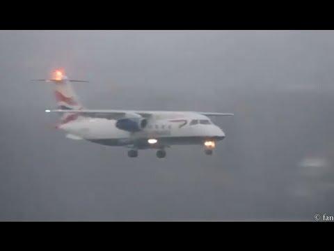 Heavy  fog at airport Bern-Belp HD