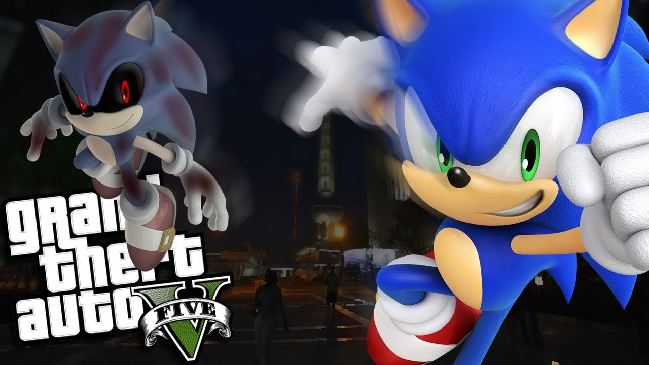 Gta 5 Mods Evil Sonic Exe Vs Sonic Mod Gta 5 Pc Mods Gameplay Youtube