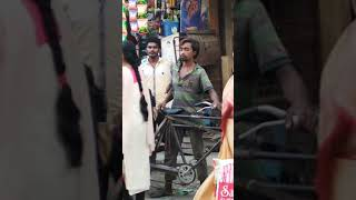 Funny video   one man sleeping on road