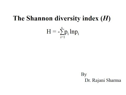Shannon Wiener Species Diversity Index Calculator. Online biodiversity calculator which helps to calculates the Shannon's Diversity Index and Evenness from the given sample data.
