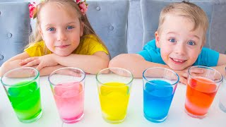 Gaby and Alex are conducting a science egg experiments for kids