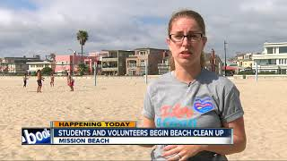 Hundreds of students to clean Mission Beach