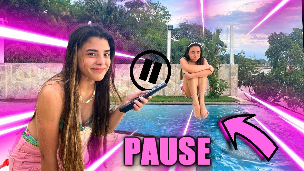 DESAFIO DO PAUSE NA CASA DE PRAIA! - pause challenge ate the beach house