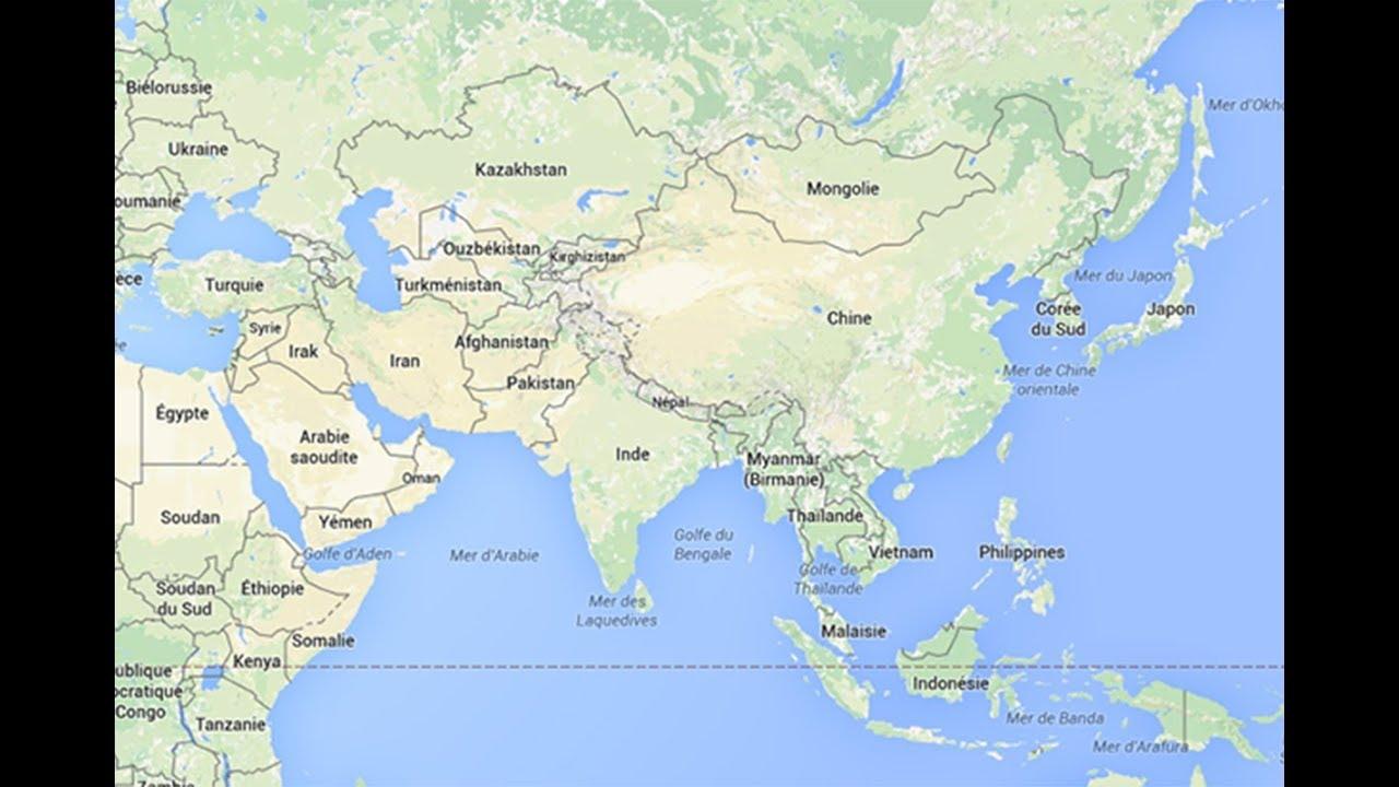Seterra Map Quiz - Asia 100% (Pin) [0:52]