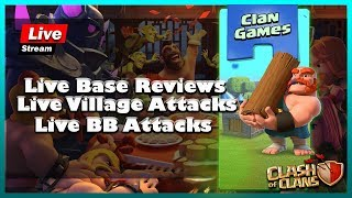 🔴 Live    Clan Games   Live BB Challenges and Attacks   Live Normal Attacks