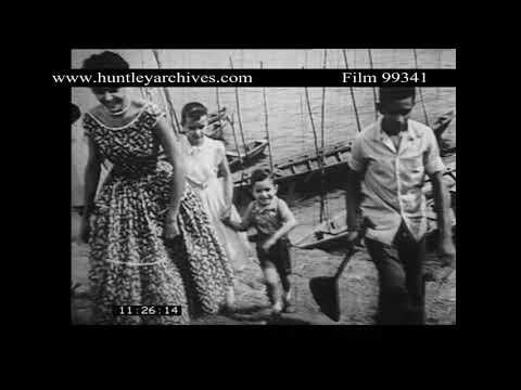 Porto Alfonso in Brazil, 1950's.  Archive film 99341