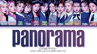 IZ*ONE 'Panorama' Lyrics (아이즈원 Panorama 가사) (Color Coded Lyrics)