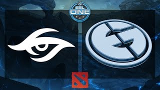 Dota 2 - Team Secret vs. EG - ESL One Frankfurt 2015 - Grand Final - Game 1(ESL One returns to the Commerzbank-Arena in Frankfurt, Germany for the second installment of the biggest Dota 2 tournament in Europe! For more DOTA 2 ..., 2015-06-21T18:09:02.000Z)
