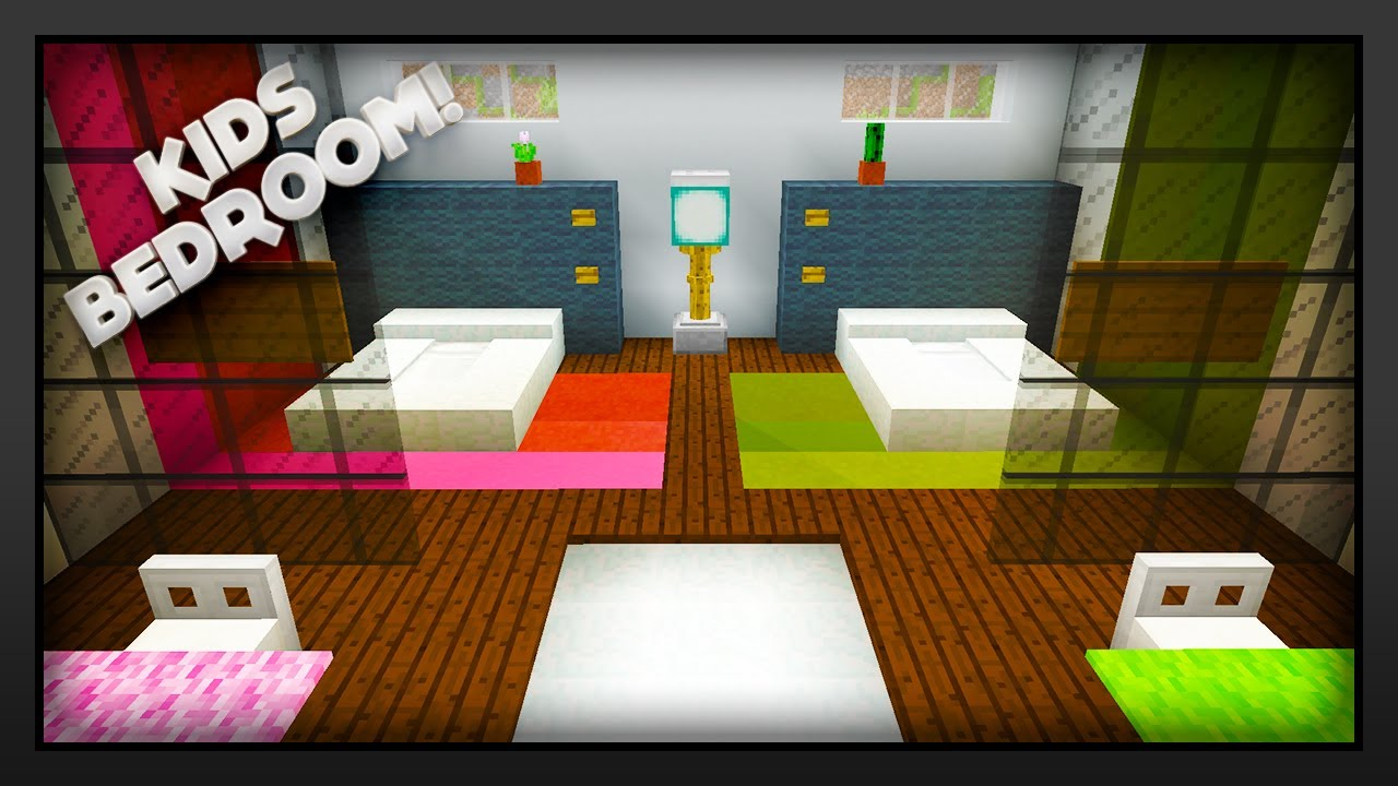 Minecraft how to make a kids bedroom youtube for Bedroom ideas on minecraft
