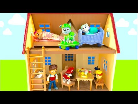 Learn Colors for Children Paw Patrol New House Ice Cream Rubble Zuma Skye Chase | Fizzy Fun Toys