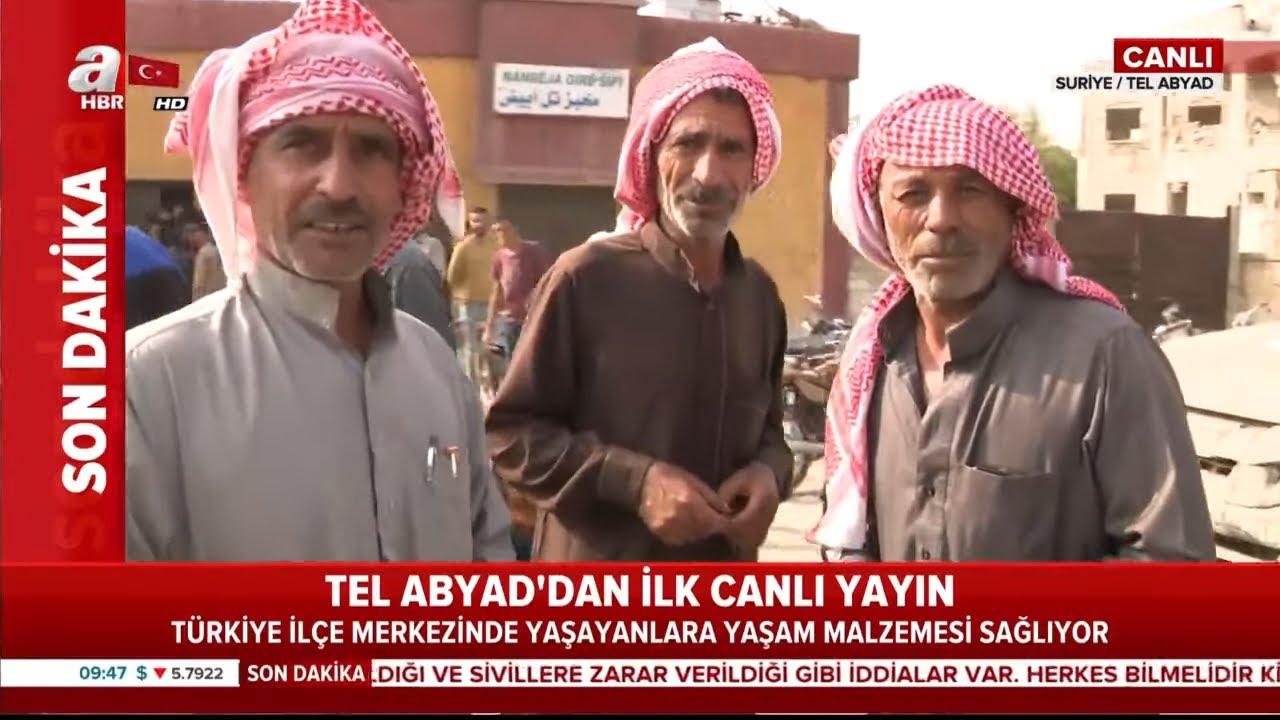Tel Abyad'dan İlk Canlı Yayın! / Hayat Normale Döndü / A Haber