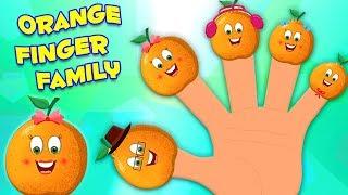 Оранжевая Семья Пальцев | Детские Стишки Для Детей | Детские Песни | Orange Finger Family
