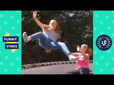 TRY NOT TO LAUGH CHALLENGE - Epic Trampoline Fails Compilation April 2018   Funny Vines Videos