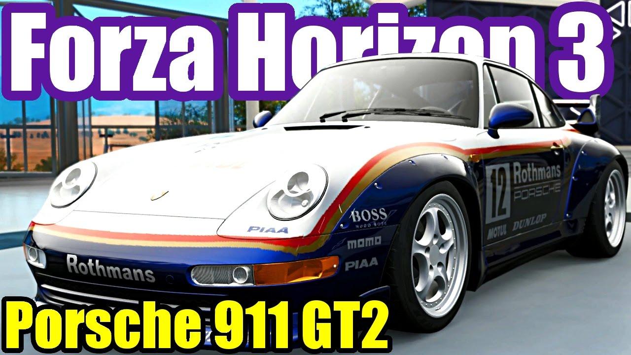 wide body porsche 911 gt2 forza horizon 3 porsche car. Black Bedroom Furniture Sets. Home Design Ideas