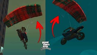 Secret Parachute Bike cycle Location in GTA San Andreas! (Hidden Place) #RAJPOOTGAMER