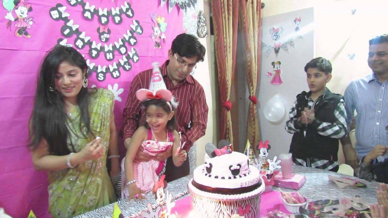 Happy Birthday Cake Cutting Anishkas 5th Birthday Bash Youtube