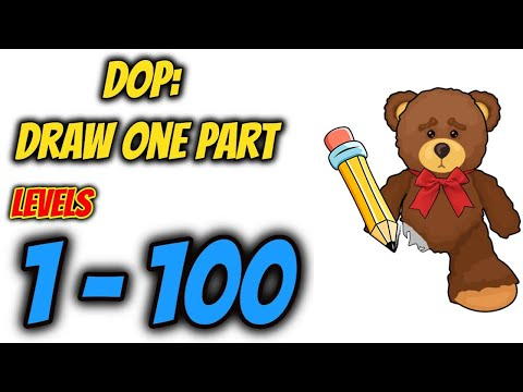 DOP: Draw One Part Levels 1 - 100 Gameplay Walkthrough | Say Games