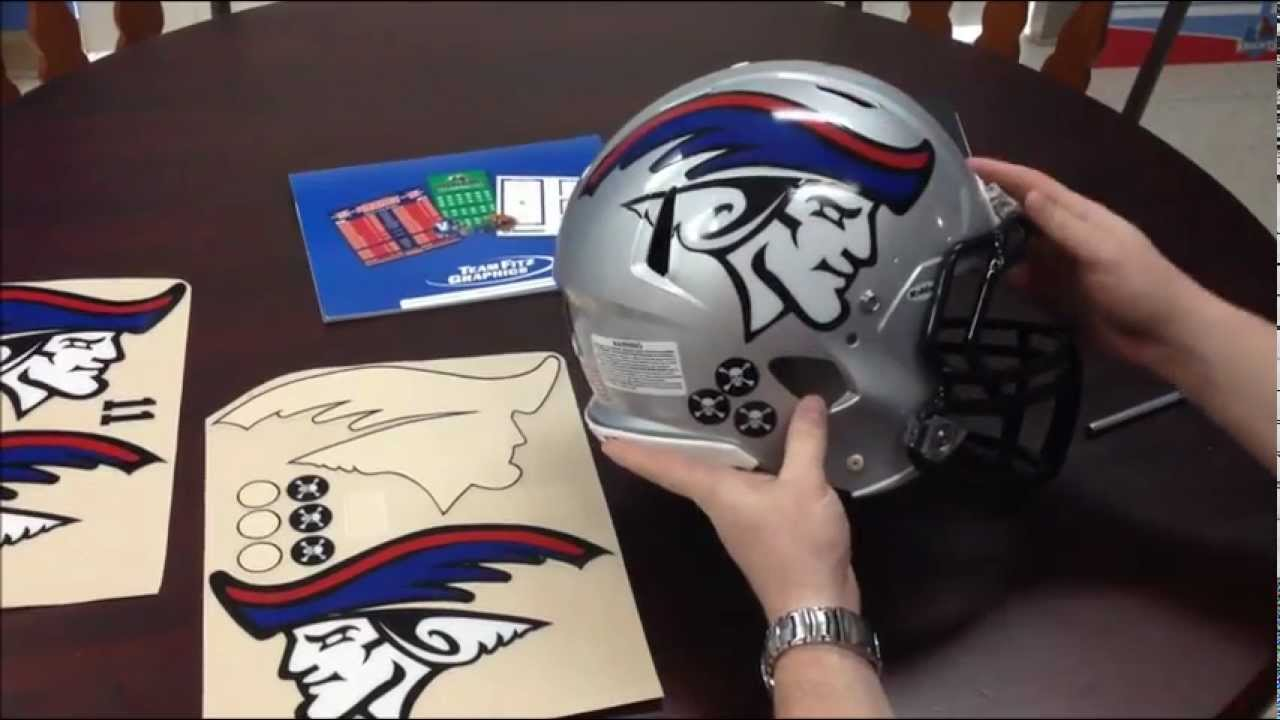 Team Fitz Graphics Applying Oversized Football Helmet Decals - Helmet custom vinyl stickers