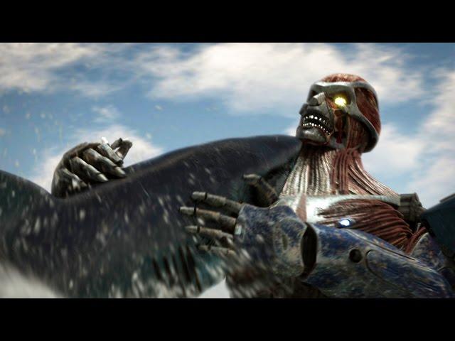どうやら今度のサメは巨人と対戦するようです…!映画『メガ・シャークVSグレート・タイタン』予告編