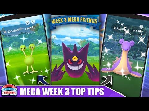 MEGA GENGAR! TOP 5 TIPS *MEGA FRIENDSHIP WEEK* - SHINY DODUO & SHINY BIG POKÉMON  | Pokémon GO