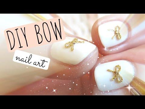 * DIY BOW * nail art tutorial thumbnail