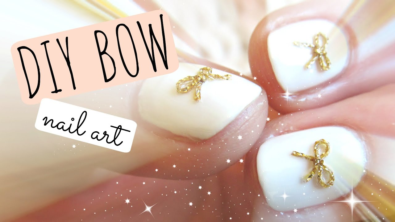 how to make a bow on nails