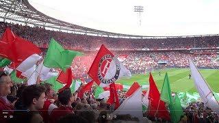 Sfeer tijdens kampioenswedstrijd Feyenoord - Heracles Almelo
