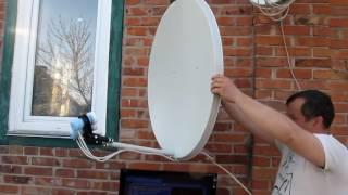 как самостоятельно установить спутниковую тарелку