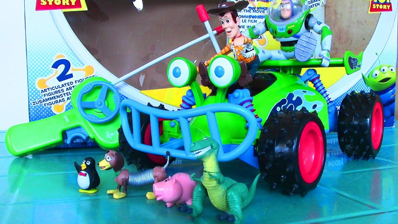 disney pixar toy story 3 woody and buzz lightyear radio controlled car toy kids toys youtube