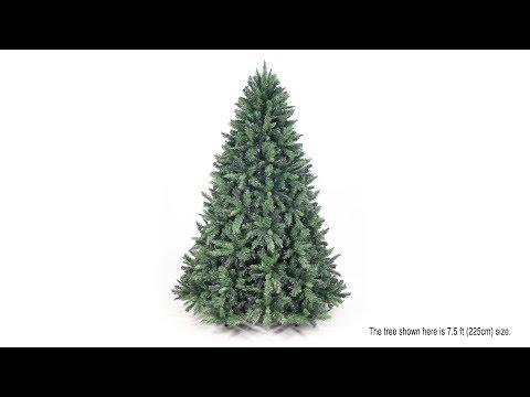 7.5ft Eco-Friendly Oncor Mixed Pine Christmas Tree Assembly (SKU: 12077)
