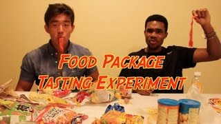 Food Package Tasting Experiment!