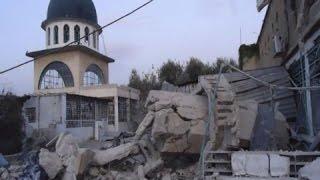 غارة على مسجد بقرية الجينة غرب حلب .. تابع ..م بلغ عدد القلتى ومن هي الجهة المسؤولة ؟