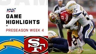 Chargers vs. 49ers Preseason Week 4 Highlights | NFL 2019