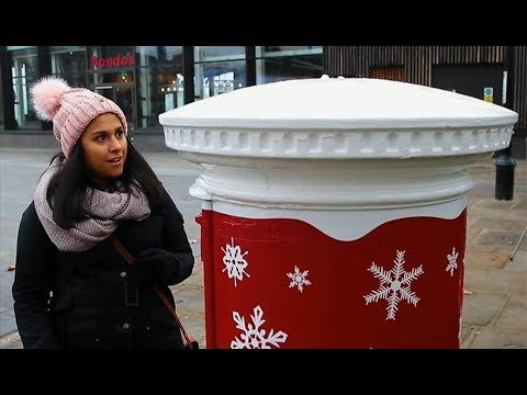 The Christmas postbox that plays as you post (UK) - BBC London News - 26th November 2018