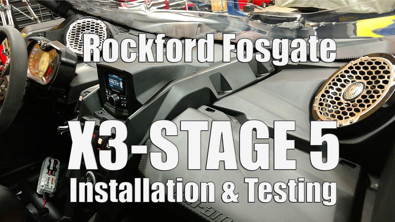 rockford fosgate can am x3 stage 5 1 000 watt radio. Black Bedroom Furniture Sets. Home Design Ideas