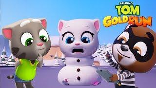 Talking Tom Gold Run - Angela SnowBoard Race 2018 - Best Game Run - iPad Gameplay