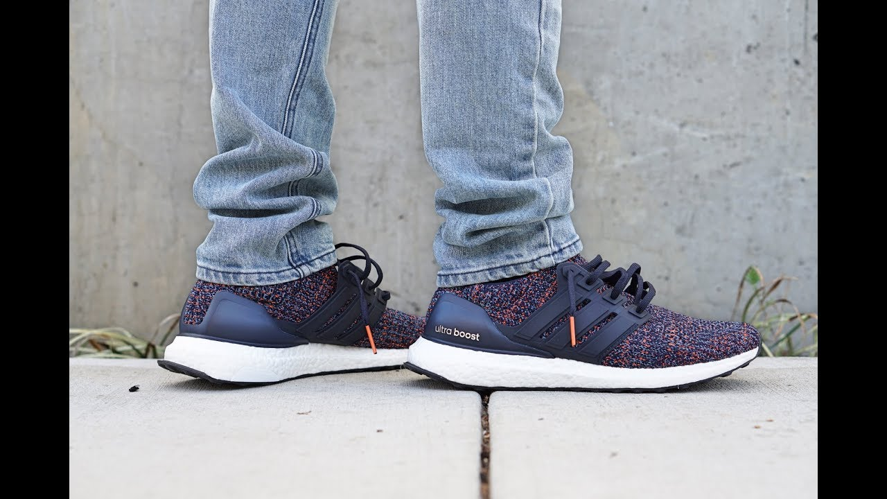 4465198f648f2 On Feet  Adidas UltraBoost 4.0 (Navy Multi-Color) BB6165 - YouTube