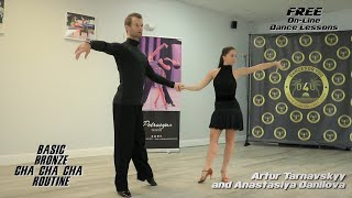 Basic Bronze Cha Cha Routine by Artur Tarnavsky and Anastasiya Danilova