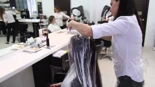 Смотреть видео профессиональное окрашивание волос
