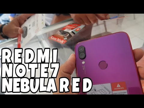 REDMI NOTE 7 NEBULA RED COLOR Review Indonesia