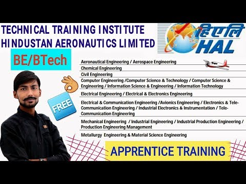 HAL recruitment 2018   Apprentice Training at TTI BANGALORE   BE/BTech   all details