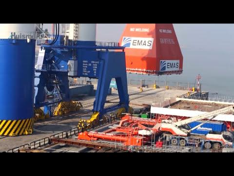 Installation 3,000mt Huisman Offshore Mast Crane onboard Ezra's Lewek Constellation