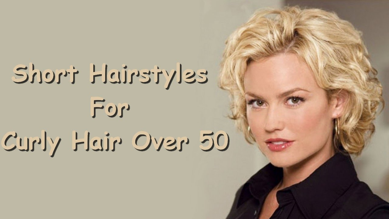short hairstyles for curly hair over 50 - youtube