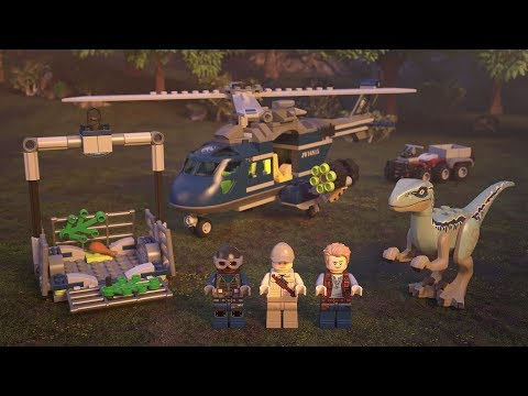 Blue's Helicopter Pursuit - LEGO Jurassic World - 75928 Product Animation